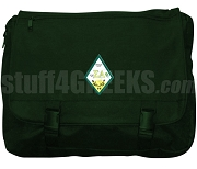 Sigma Alpha Laptop Bag with Crest, Forest Green