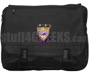 Sigma Alpha Mu Laptop Bag with Crest, Black