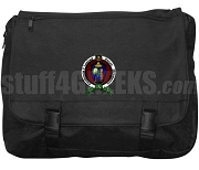 Sigma Delta Alpha Laptop Bag with Crest, Black