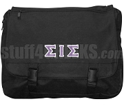 Sigma Iota Sigma Laptop Bag with Greek Letters, Black