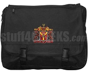 Sigma Phi Delta Laptop Bag with Crest, Black