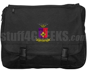 Sigma Phi Epsilon Laptop Bag with Crest, Black