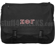 Sigma Phi Gamma Laptop Bag with Greek Letters, Black