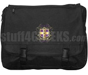 Zeta Nu Delta Laptop Bag with Crest, Black