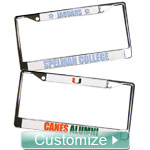 Personalized License Plate Frame