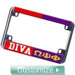 Custom Split Motorcycle License Plate Frame