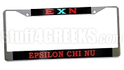 Epsilon Chi Nu License Plate Frame - Epsilon Chi Nu Car Tag