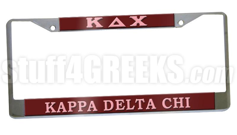 Kappa Delta Chi License Plate Frame - Kappa Delta Chi Car Tag