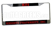 Knights Fraternity, Inc. License Plate Frame - Knights Fraternity, Inc. Car Tag (CQ)