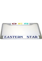 Order of Eastern Star License Plate Frame- Order of Eastern Star Car Tag (CQ)