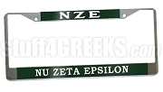Nu Zeta Epsilon License Plate Frame - Nu Zeta Epsilon Car Tag