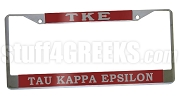 Tau Kappa Epsilon License Plate Frame - Tau Kappa Epsilon Car Tag (CQ)