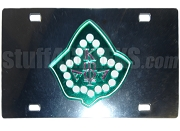 Alpha Kappa Alpha License Plate with Pearls and Ivy Leaf