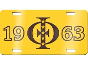 Iota Phi Theta License Plate with Founding Year on Gold Background