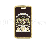 Alpha Psi Lambda Embroidered Luggage Tag with Sheild and Greek Letters, Full Color