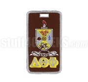 Lambda Theta Phi Embroidered Luggage Tag with Sheild and Greek Letters, Full Color