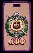 Omega Psi Phi Crest Luggage Tag