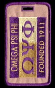 Omega Psi Phi 1911 Luggage Tag