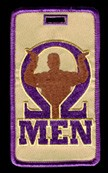 Omega Psi Phi Hook Luggage Tag