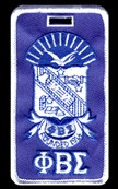 Phi Beta Sigma Crest Luggage Tag