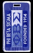 Phi Beta Sigma 1914 Luggage Tag