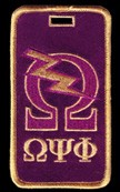 Omega Psi Phi Luggage Tag with Q-Bolt
