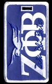 Zeta Phi Beta Dove Luggage Tag