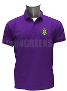 Omega Psi Phi Crest Polo Shirt, Purple