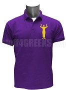 Omega Psi Phi Hook Polo Shirt, Purple