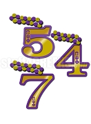 Omega Psi Phi Line Number Tiki with Letters on Number (Customize with Your Line Number)