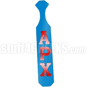 Alpha Rho Chi Greek Letter Paddle with Azure Glossy Wood