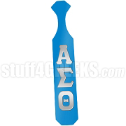 Alpha Sigma Theta Greek Letter Paddle with Baby Blue Glossy Wood