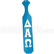 Delta Alpha Omega Greek Letter Paddle with Sky Blue Glossy Wood