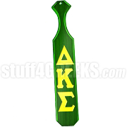 Delta Kappa Sigma Greek Letter Paddle with Green Glossy Wood