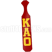 Kappa Alpha Order Paddle with Glossy Crimson Wood and Reflective Gold Letters