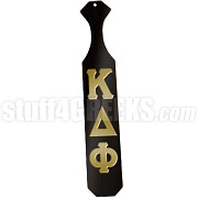 Kappa Delta Phi Greek Letter Paddle with Black Glossy Wood