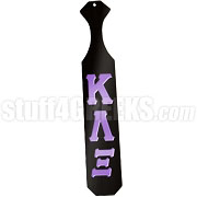 Kappa Lambda Xi Greek Letter Paddle with Black Glossy Wood
