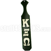 Kappa Xi Omega Greek Letter Paddle with Forest Green Glossy Wood