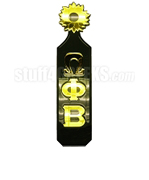 Omega Phi Beta Greek Letter Paddle with Sunflower Handle and Forest Green Glossy Wood