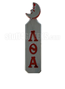 Lambda Theta Alpha Paddle with Moon Handle and Greek Letters, Gray
