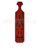 Omega Delta Phi Paddle with Greek Letters and Founding Year, Reflective