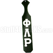 Phi Lambda Rho Greek Letter Paddle with Forest Green Glossy Wood