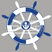 Captain's Wheel and Anchor Patch