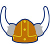 Viking Helmet Patch