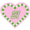 Ivy-Pearl Heart Icon