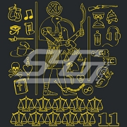 Alpha Phi Alpha Hieroglyphics Patch