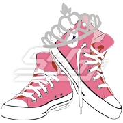 Pink Chuck Taylors Patch with Crown