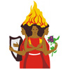 Triple Fire Goddess Icon