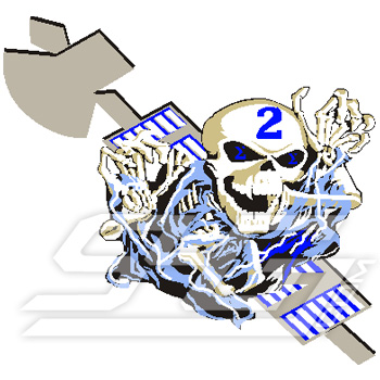 Phi Beta Sigma Flying Skeleton Patch