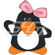 Girly Penguin Patch